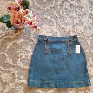 Pilcro & the Letterpress Denim Skirt Size 2 NWT